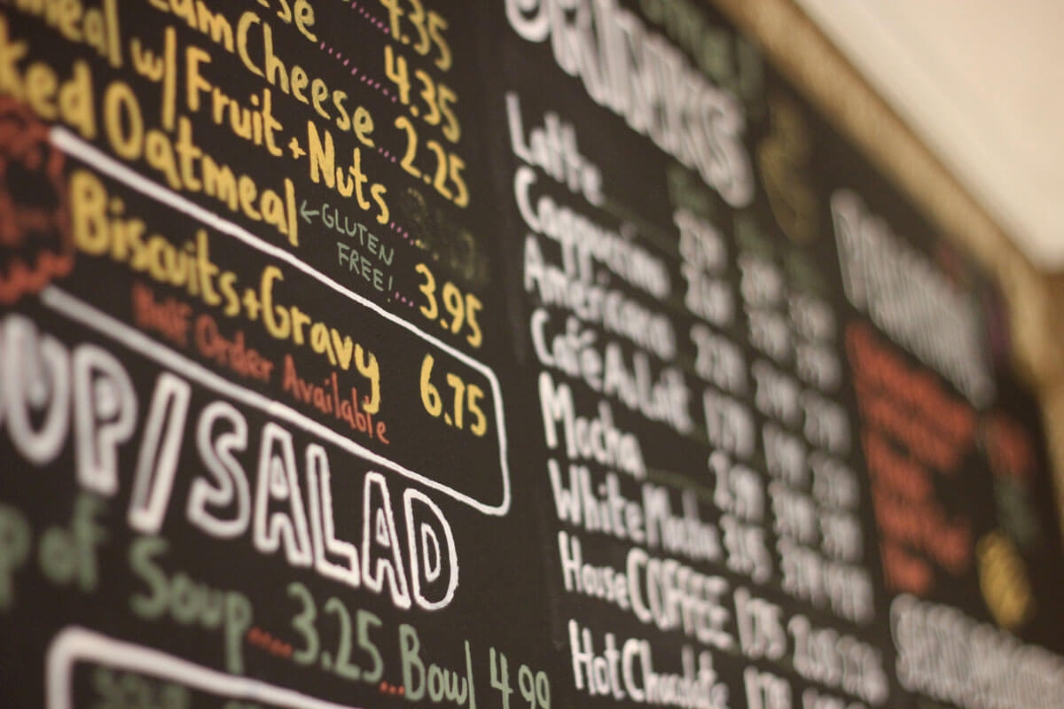 Angled picture of Latte Da menu