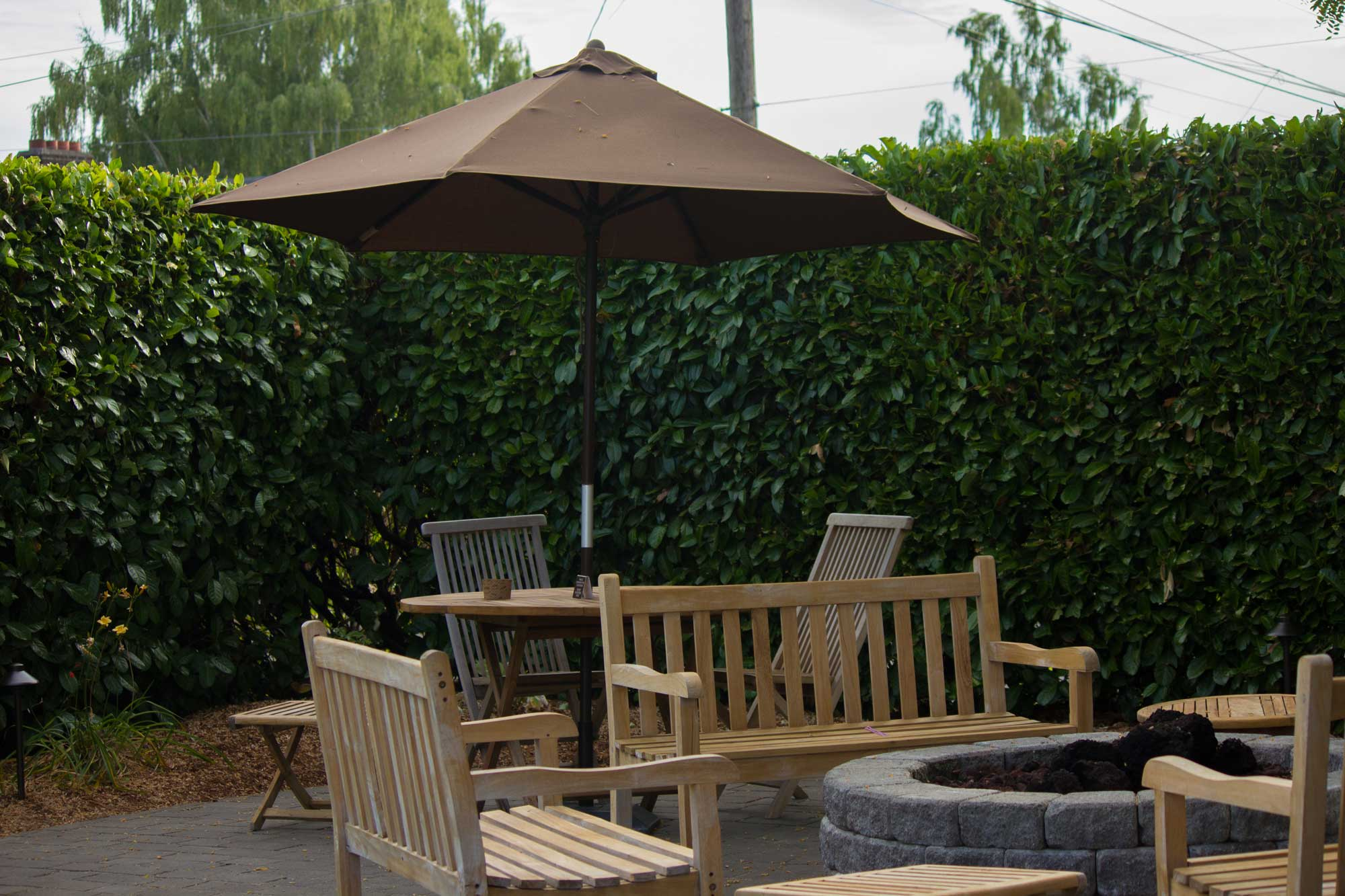 Picture of outdoor patio area at Latte Da in Vancouver WA